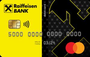 Дизайн дебетовой карты Кэшбэк от Райффайзен банк